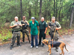 WALTON CI K9 UNIT AND WCSO TRACK WANTED FELON