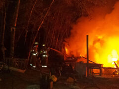 FREEPORT MOBILE HOME AND RV DESTROYED IN FIRE