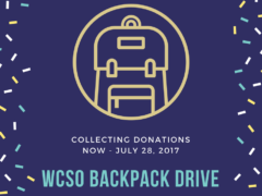 WCSO HOLDS ANNUAL BACKPACK DRIVE TO  BENEFIT CHILDREN IN NEED