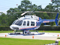 CHILD TRANSPORTED AFTER FALLING INTO POOL