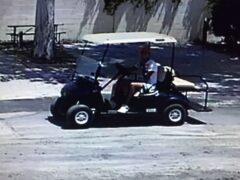WCSO SEEKING INFORMATION ON GOLF CART THIEF CAUGHT ON SURVEILLANCE VIDEO