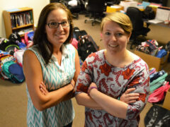 MEET THE WOMEN WHO PACKED MORE THAN 300 BACKPACKS FOR CHILDREN IN NEED