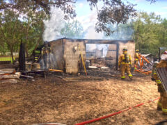 HOME AUTO SHOP SEVERELY DAMAGED AFTER MULTIPLE EXPLOSIONS AND FIRE IN DEFUNIAK SPRINGS