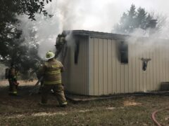 FIREFIGHTERS KNOCK DOWN RESIDENTIAL FIRE IN MOSSY HEAD