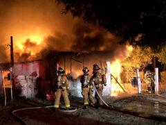 WALTON COUNTY FIRE RESCUE FIREFIGHTERS BATTLE RESIDENTIAL FIRE IN DEFUNIAK SPRINGS