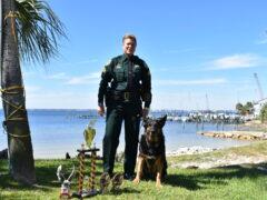 K9 KAYNE AND HANDLER SERGEANT POND EARN NO.2 DOG IN NARCOTICS DETECTION AT USPCA REGION 1 K9 TRIALS