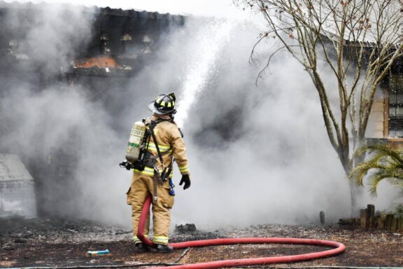 WCSO firefighter douses house fire