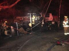 WCFR FIREFIGHTERS HELP KNOCK DOWN RV FIRE IN DEFUNIAK SPRINGS