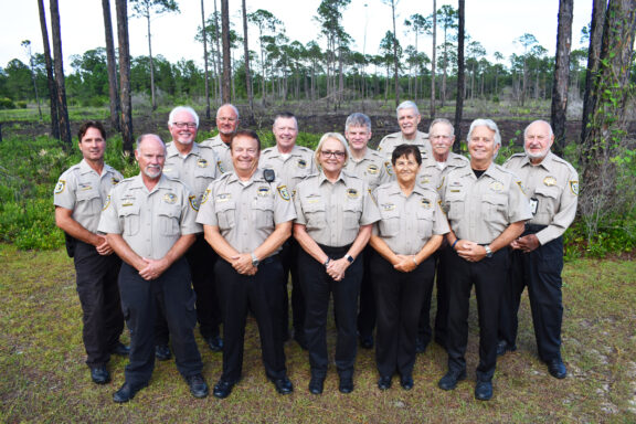 group photo of walton county sheriff's office volunteers