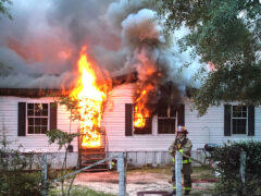 WALTON COUNTY FIRE RESCUE FIREFIGHTERS EXTINGUISH SECOND STRUCTURE FIRE OF THE DAY