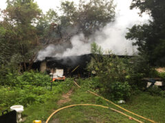 WALTON COUNTY FIRE RESCUE FIREFIGHTERS KNOCK DOWN HOUSE FIRE IN GASKIN