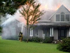FIREFIGHTERS BATTLE MASSIVE HOUSE FIRE IN DEFUNIAK SPRINGS