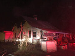 WALTON COUNTY FIRE RESCUE FIREFIGHTERS DOUSE RESIDENTIAL FIRE IN FREEPORT