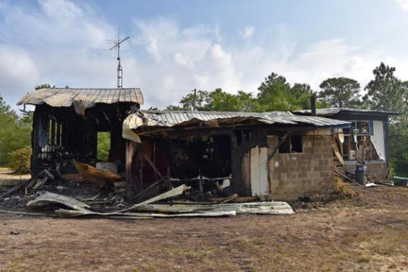 Mobile Home with Fire and Smoke Damage