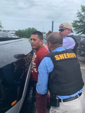 Jose Miguel Matul Mejia getting arrested following a traffic stop.