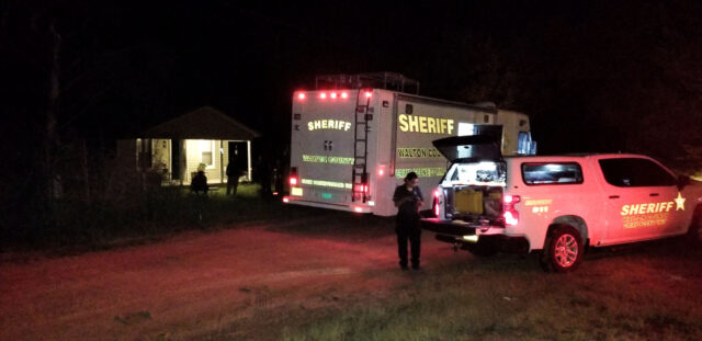The scene of a search warrant at 43 Argyle Railroad Avenue.