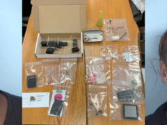 HEROIN, COCAINE, AND HANDGUN FOUND DURING TRAFFIC STOP WITH YOUNG CHILD INSIDE VEHICLE