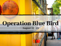 "OPERATION ""BLUE BIRD"" SCHEDULED FOR START OF SCHOOL"