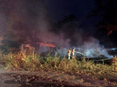 FIREFIGHTERS QUICKLY EXTINGUISH FLAMES ENGULFING A HOME IN THE VALLEY