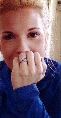 Miller smiling, ring and closeup