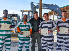 THIRD CLASS OF INMATES GRADUATE WITH HEAVY EQUIPMENT CERTIFICATE FROM WALTON COUNTY JAIL