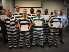 INMATE RELEASED TUESDAY WALKS NEARLY SIX MILES TO ATTEND WELDING GRADUATION AT WALTON COUNTY JAIL; EIGHT RECEIVE AWS CERTIFICATES
