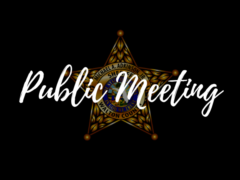 NOTICE OF PUBLIC MEETING – FEBRUARY 13TH