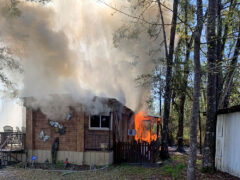 FIRE BREAKS OUT IN BRUCE MOBILE HOME; WCFR KNOCKS DOWN SECOND STRUCTURE FIRE OF THE DAY