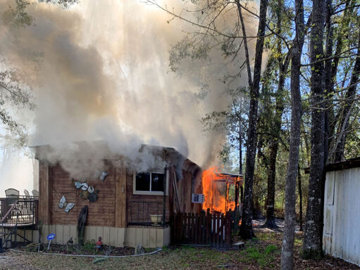 Fire in mobile home