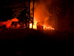 FIREFIGHTERS KNOCK DOWN FLAMES CONSUMING MULTIPLE STRUCTURES IN THE VALLEY