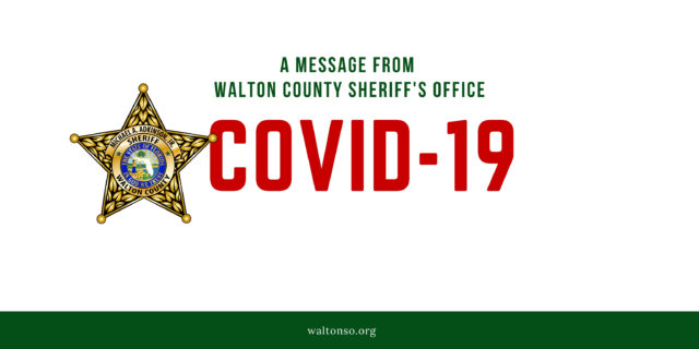 COVID-19 graphic with Sheriff Star logo
