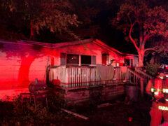 WALTON AND OKALOOSA COUNTY FIREFIGHTERS BATTLE BLAZE AT VILLA TASSO HOME
