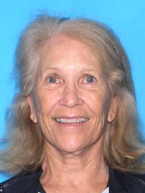 Photo of Ruth Kirst described as a white female with long gray hair, blue eyes, 5'4 tall and weighs approximately 160 pounds.