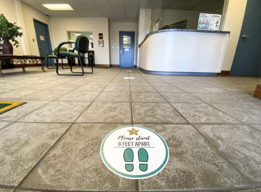 A photo of the Walton County Sheriff's Office north administration lobby.