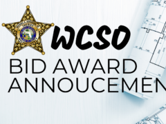 WCSO ANNOUNCES BID AWARD FOR DRIVING PAD PROJECT