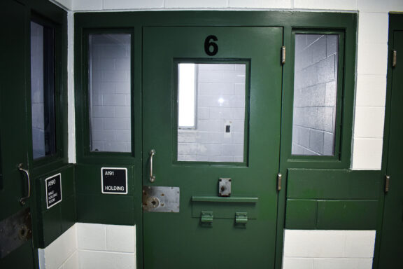 Jail cell at the Walton County Jail