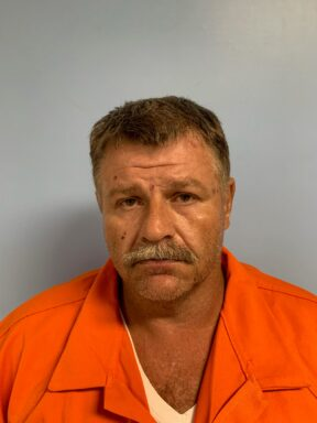 Mug shot of a middle aged white male with salt and pepper hair and mustache