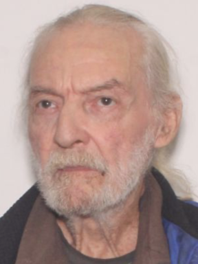 White elderly male with white hair and beard and brown eyes
