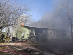 FIREFIGHTERS RUSH TO SAVE FAMILY'S HOME AFTER A FIRE BREAKS OUT IN WESTVILLE