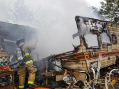 RESIDENTIAL FIRE BREAKS OUT IN MOSSY HEAD; FIREFIGHTERS PUT OUT THE FLAMES WITHIN MINUTES