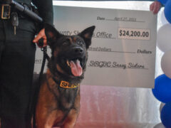 WCSO K-9 UNIT RECEIVES $40,000 DONATION FOLLOWING SASSY SISTERS K-9 EVENT
