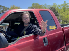 A still image from video taken from the victim's phone of Michael McClure during a road rage incident that resulted in a shooting