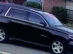 Dark colored SUV, suspect vehicle